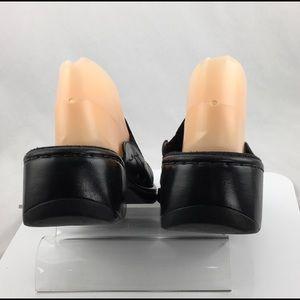 Clarks Shoes - Clarks Mules Black Leather Floral shoes Size 9 M